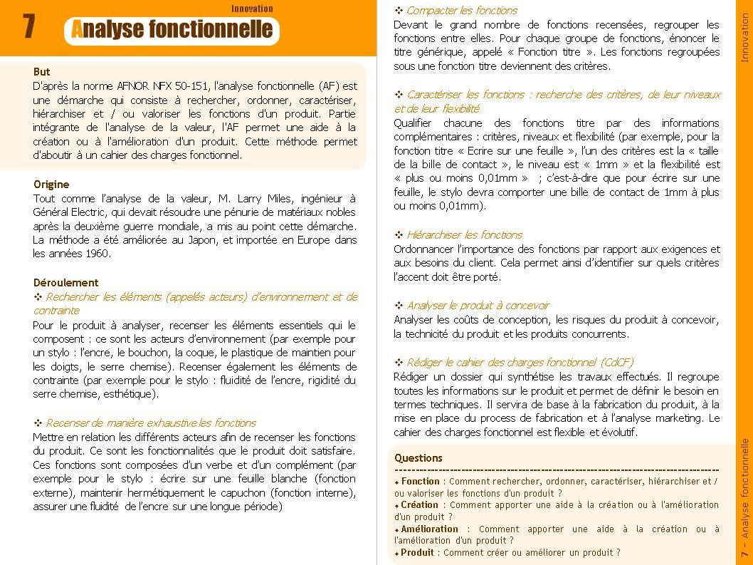 Cahier des charges analyse fonctionnelle - Definition de cahier de charge ...